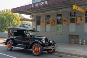The Globe with its 1924 Buick which takes you to our award winning local wineries
